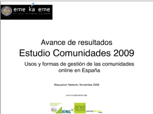 Presentación Avance Estudio Comunidades Online 2009